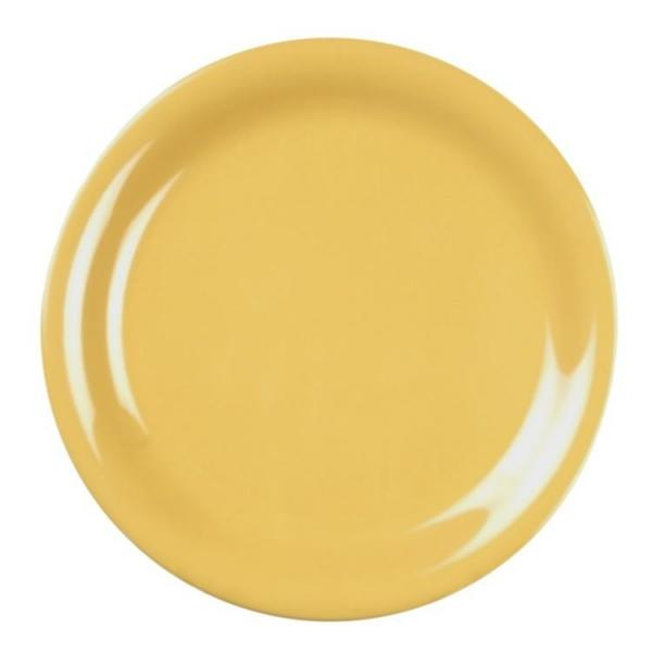 Narrow Rim Melamine Plate -12/Case - Kitchway.com