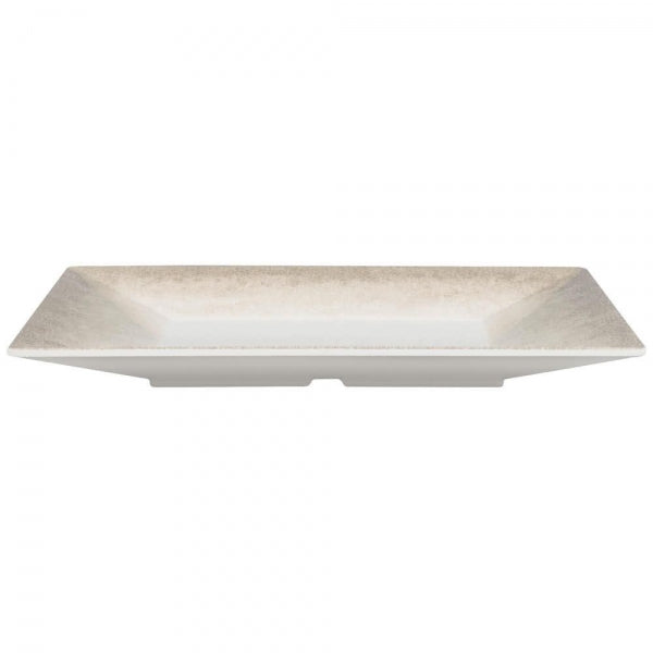 Jazz Square Melamine Plate with Crackle Finished Border-12/Case - Kitchway.com