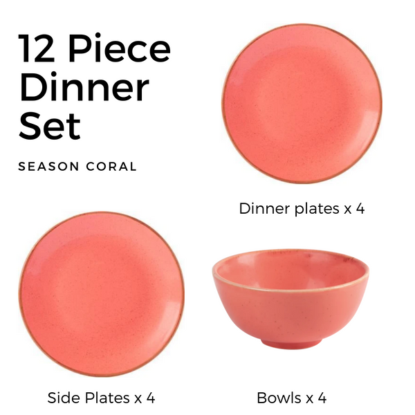 Seasons Sea Spray 12 Piece Dinner Set - Turquoise