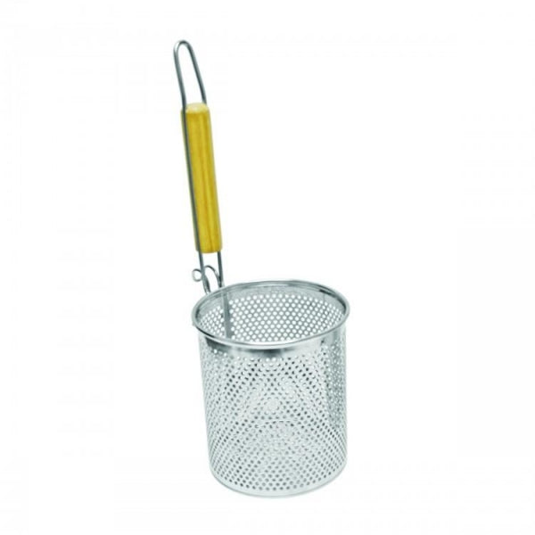 Flat Bottom, Round Noodle Skimmer with Handle - Kitchway.com