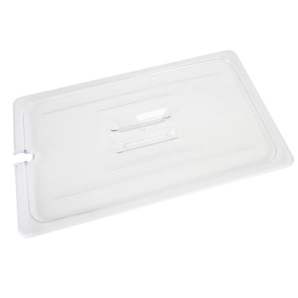 Full Size Polycarbonate Food Pan Lid with Spoon Notch and Handle - Kitchway.com
