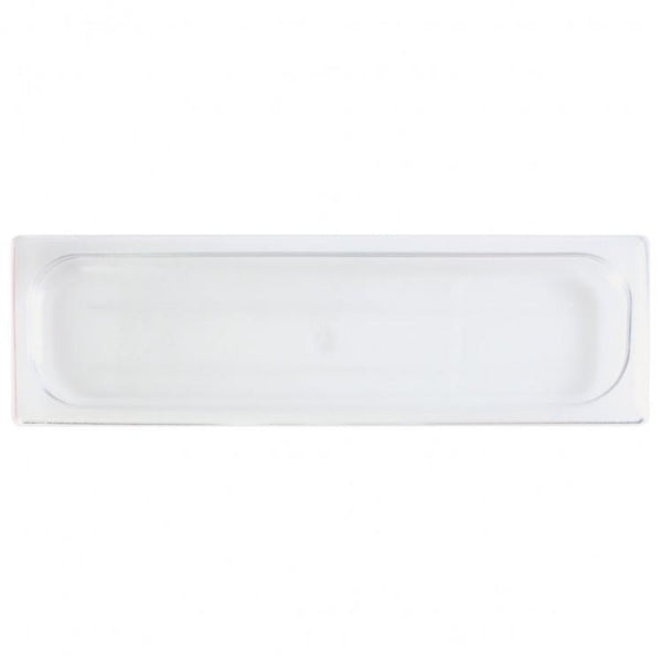 Half Size Long Polycarbonate Food Pan Lid - Kitchway.com