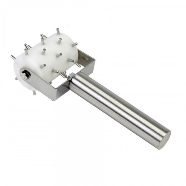 Half Size Plastic Barrel Roller Docker with Stainless Pins - Kitchway.com