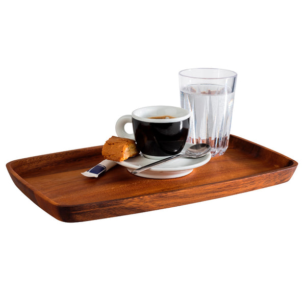 "Oiled Acacia Wood Serving Board 30 x 18 x 2cm / 11 ¾"" x 7"" x ¾""  - Pack of 1"