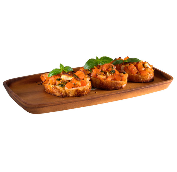 "Oiled Acacia Wood Serving Board 30 x 15 x 2cm / 11 ¾"" x 6"" x ¾""  - Pack of 1"