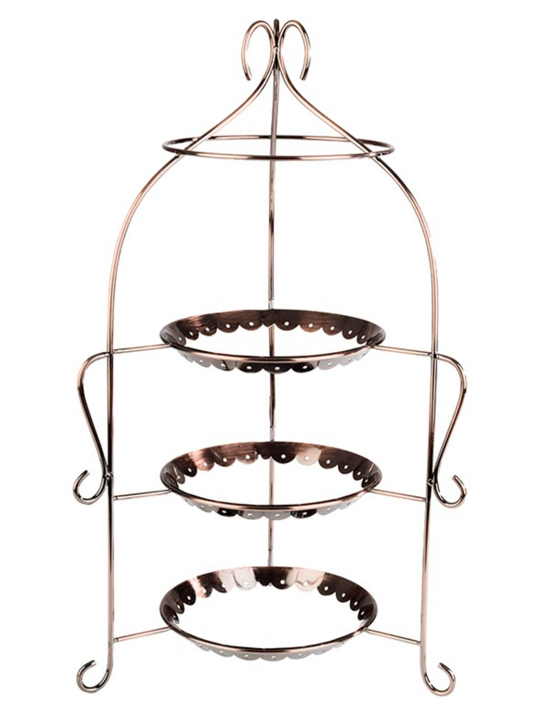 "Romantic Style Serving Stand Antique Copper look 54 x 30cm / 21 ¼"" x 11 ¾""- Pack of 1"