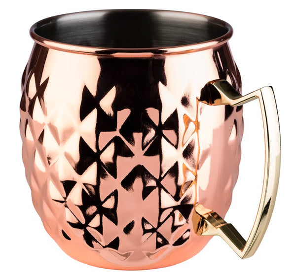 "Moscow Mule Barrel Mug Glossy Copper look (Stainless Steel) 10 x 9.5cm / 4"" x 3 ¾"" (0.5 Ltr) - Pack of 1"