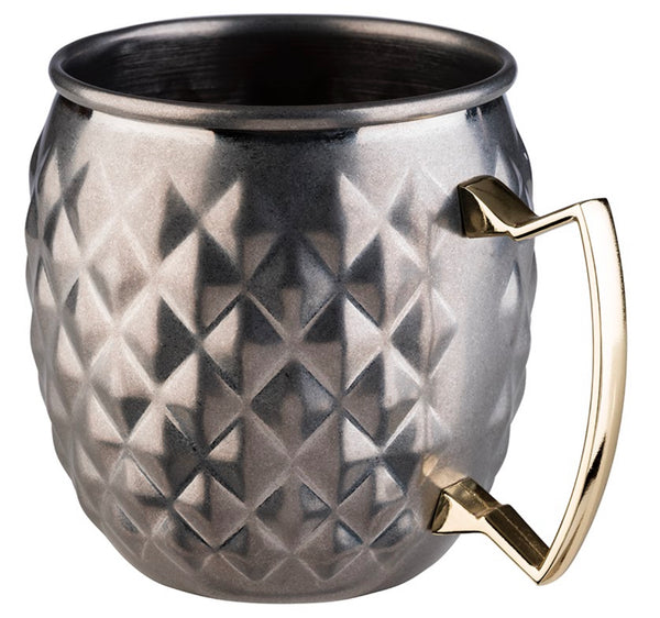 Moscow Mule Barrel Mug Stainless Steel Antique look (Stainless Steel) - Pack of 1