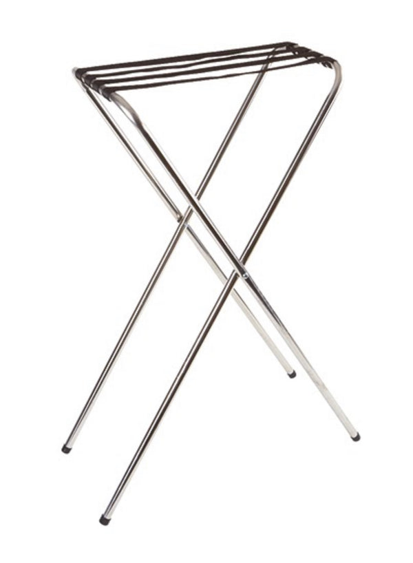 "Chrome Plated Tray Stand 80 x 41 x 52cm / 31 ½"" x 16 x 20 ½"" - Pack of 1"