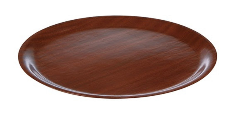 "Round Mahogany Wood Tray 33cm / 13"" - Pack of 1"