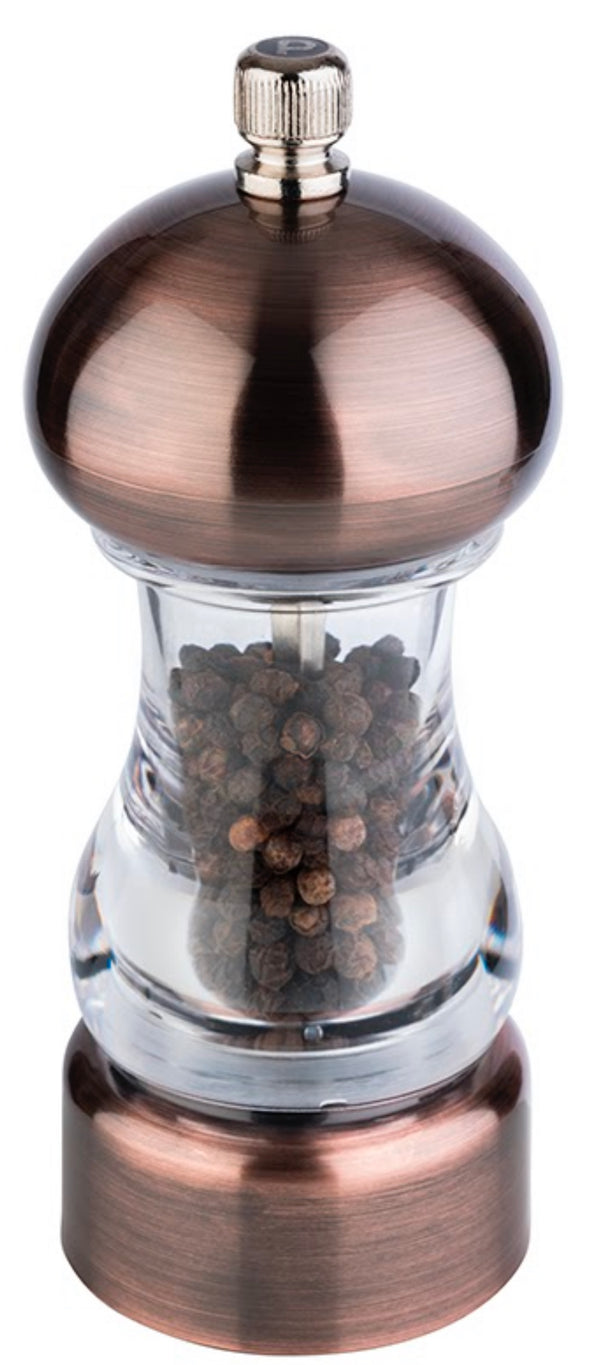 "Carbon Steel 'Copper' Pepper Mill (Acrylic) 15 x 6cm / 5 ⅞"" x 2 ⅓"" - Pack of 1"
