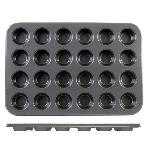 Mini Muffin Pan - 24 Compartments - Kitchway.com
