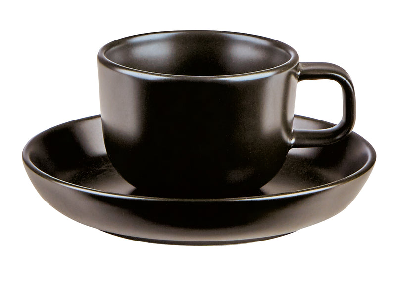 Nordika Black Saucer 12cm - Pack of 6
