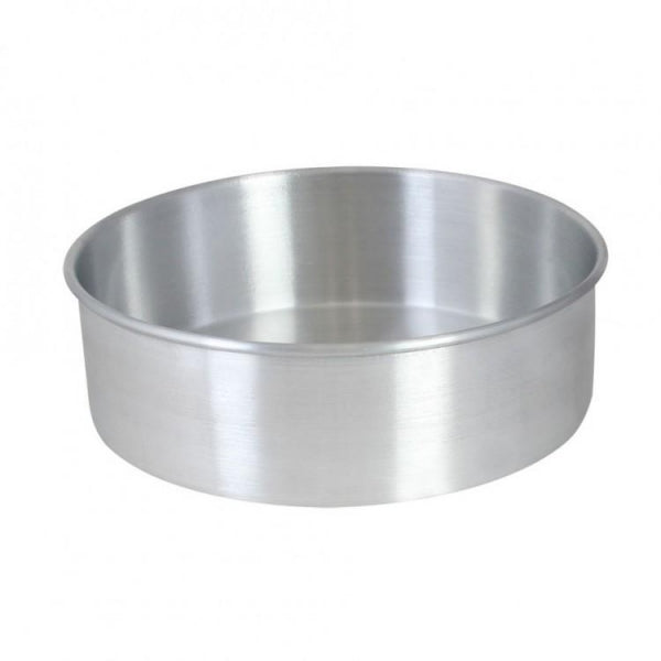 "Natural Aluminum 9"" x 3"" layer Round Cake Pan - Kitchway.com"