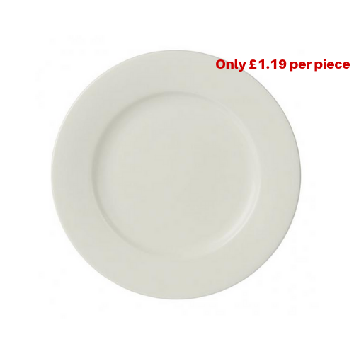 Bulk Buy Pack Of 36 Imperial Fine China Wide Rimmed Plates 16cm 160mm