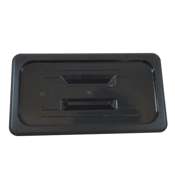 Black Polycarbonate GN 1/3 Gastronorm Food Pan Lid Cover with Handle