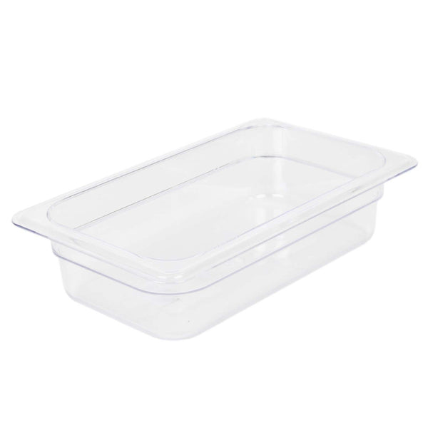 Clear Polycarbonate GN 1/4 Gastronorm Food Pan Container 65mm