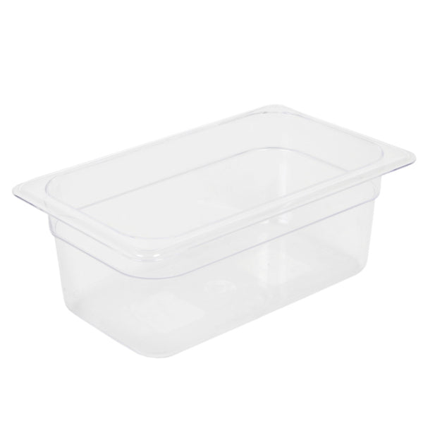 Clear Polycarbonate GN 1/4 Gastronorm Food Pan Container 100mm
