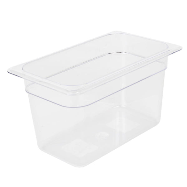 Clear Polycarbonate GN 1/4 Gastronorm Food Pan Container 150mm