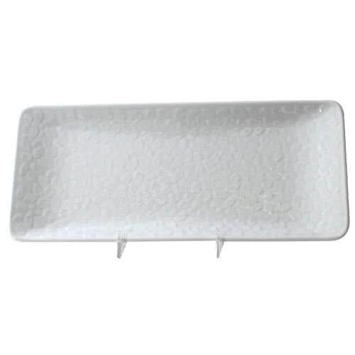 Classic White Rectangular Melamine Plate -12/Pack - Kitchway.com