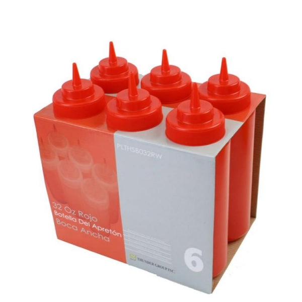 Wide Mouth Squeeze Bottle- 6/Pack - Kitchway.com