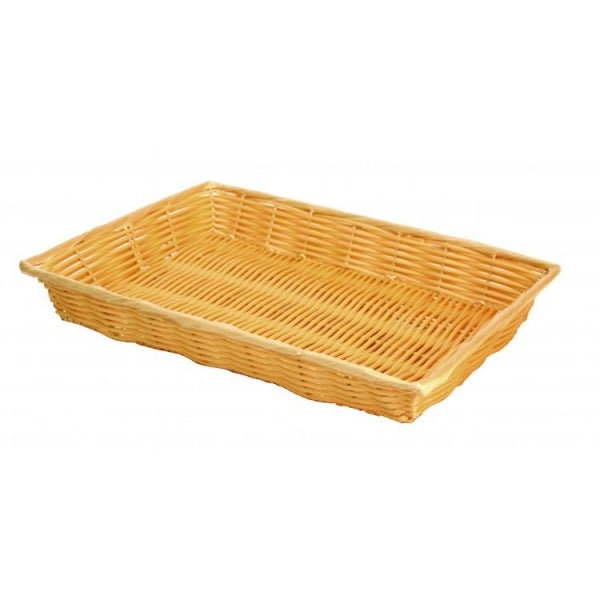 Plastic Woven Basket with Handles - Kitchway.com