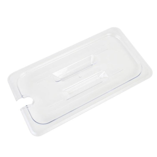 Polycarbonate Food Pan Lid with Spoon Notch and Handle - Kitchway.com