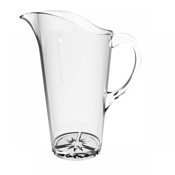 Polycarbonate Water Pitcher with Starburst Base - Kitchway.com