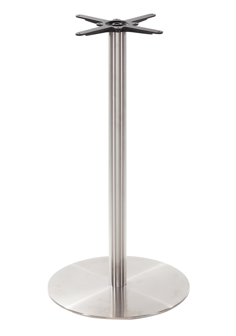 Round s/steel table base - Large - Poseur height - 1050 mm
