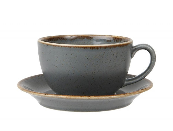 Porcelite Storm Bowl Shaped Cup/Saucer - Kitchway.com