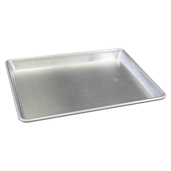 Full Size 16 Gauge Wire in Rim Natural Perforated Aluminum Bun Pan / Sheet Pan - Kitchway.com
