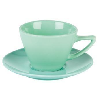 Simply Green Conic Cup and Saucer