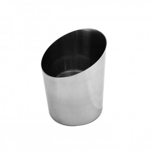 Stainless Steel Angled Fry Cup - Kitchway.com