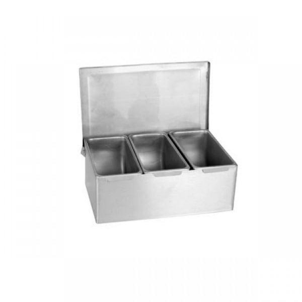Stainless Steel Condiment Compartments - Kitchway.com