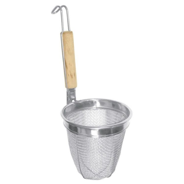 Wood Handle Noodle Skimmer - Kitchway.com