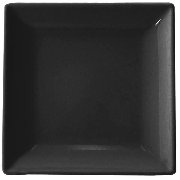 Classic Black Square Melamine Plate -12/case - Kitchway.com