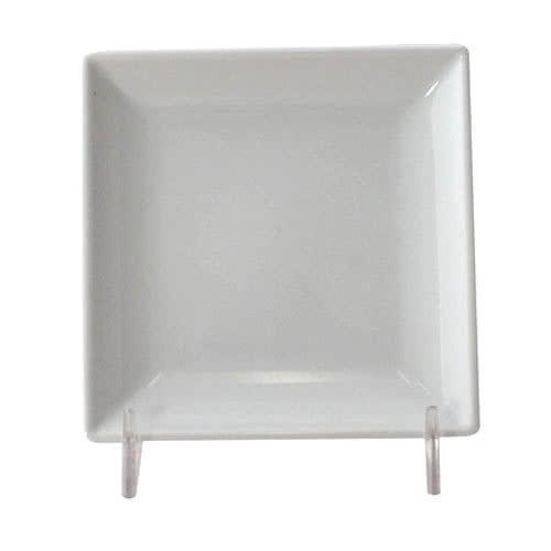 Classic White Square Melamine Plate-12/case - Kitchway.com