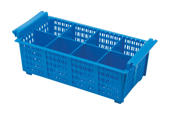 8 Compartment Cutlery Basket Blue