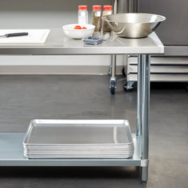 Stainless Steel Wall Prep Bench Table - 1800w x 600d x 850h