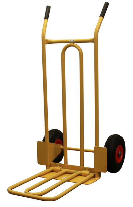 Heavy Duty Folding and Fixed Toe Sack Truck - 200kg Capacity