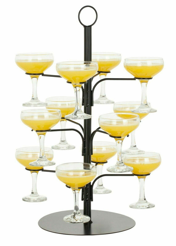 Black Cocktail Tree To Hold 12 Glasses