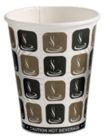 10oz Café Mocha Paper Espresso Hot Drink Paper Cup - Pack of 1000