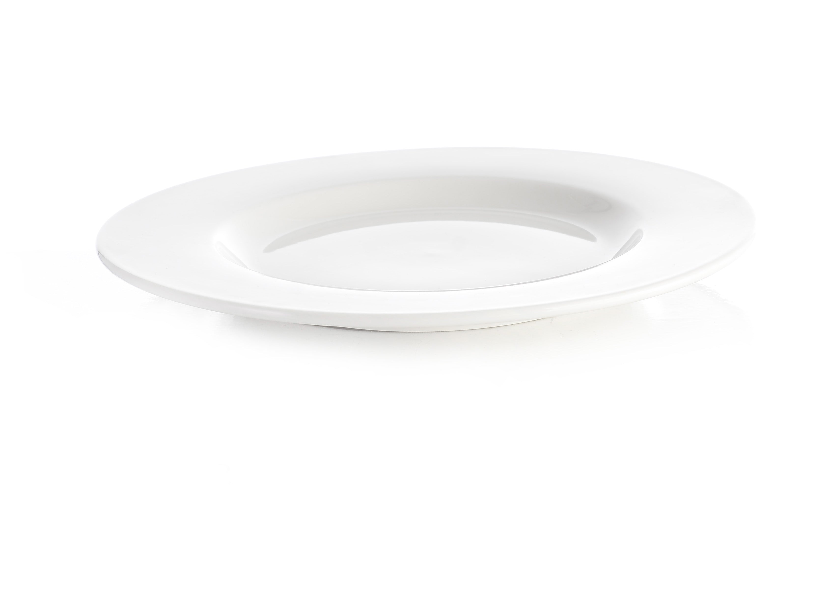 Professional Hotelware Wide Rimmed Plate - Pack of 6