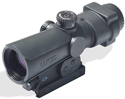LUCID Optics 4x Prismatic Weapons Optic w/Dual Illumination Red/Blue & P7 Reticle