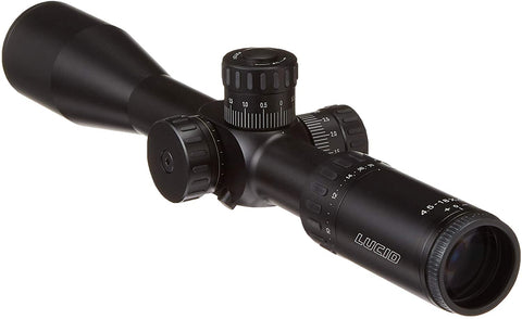 LUCID Optics 4.5-18x44 First Focal Plane, MRAD Based Rifle Scope with MLX Reticle & Side Parallax