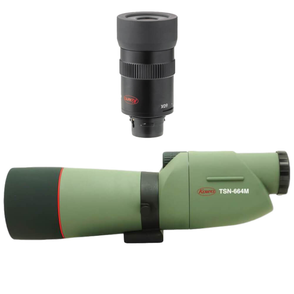 Kowa TSN-664M Prominar XD Straight Spotting Scope + TE9Z 20-60X Eyepiece