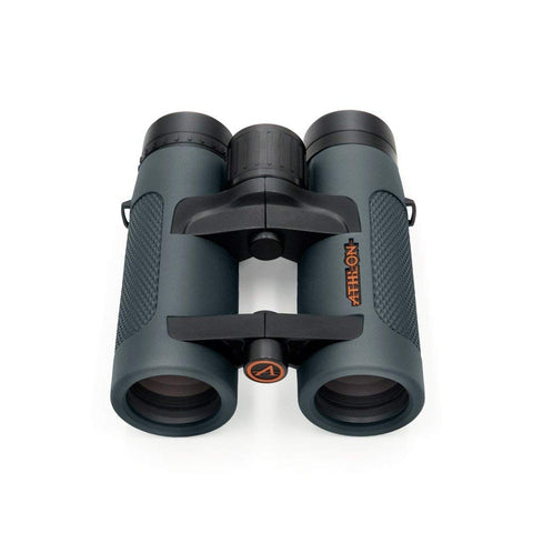 Athlon 8X36 Ares Binoculars Front View tilted