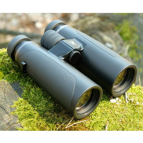 GPO 10X42 PASSION HD 42 BINOCULARS BLACK Flat On Rock