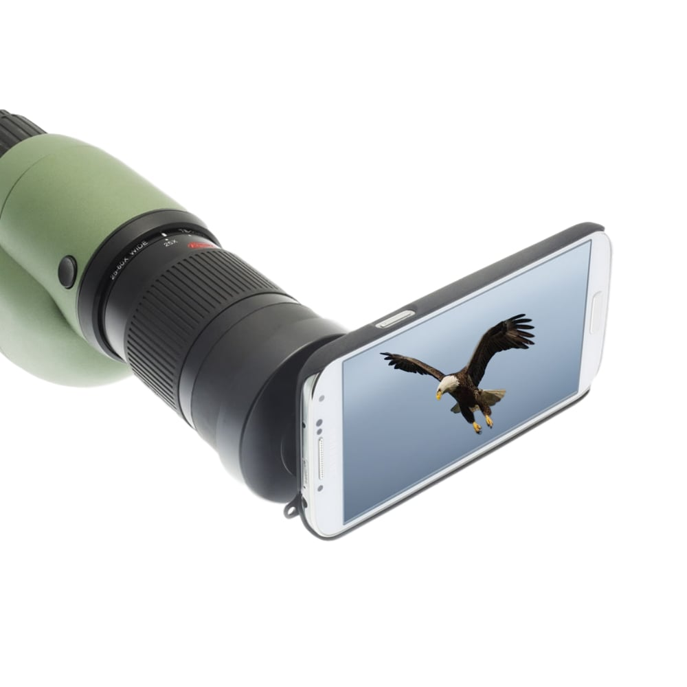 Kowa Photo Adapter for Samsung attached to Spotting Scope