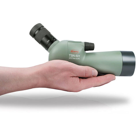 Kowa_TSN-501_50mm_Fully_Multi_Coated_Angled_Spotting_Scope_On_Hands